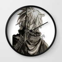 noir Wall Clocks featuring Noir by OtakuRuki