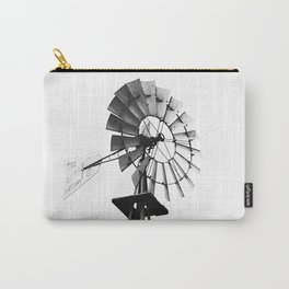 Windmill Black and White Carry-All Pouch