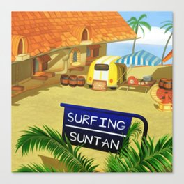 Costa Del Sol Surfing Suntan Canvas Print