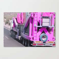 Pink pink truck Canvas Print