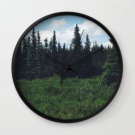 Alaska Forest Wall Clock