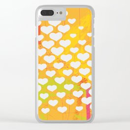 Hearts Clear iPhone Case