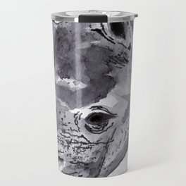 Rhino - Animal Series in Ink Travel Mug