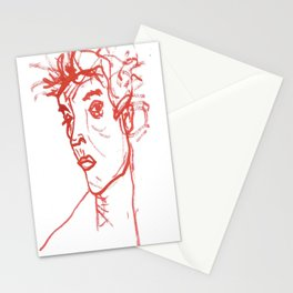 inspired in Egon Schiele 02 Stationery Cards