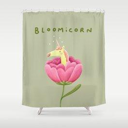 Bloomicorn Shower Curtain
