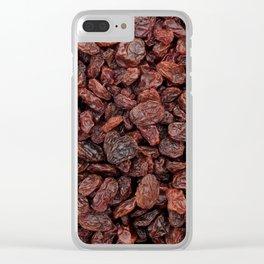 Tasty raisins Clear iPhone Case