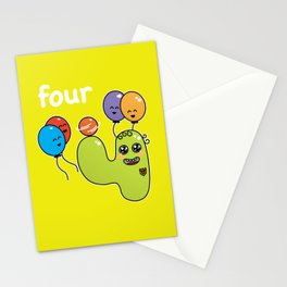 Number 4 birthday Stationery Cards