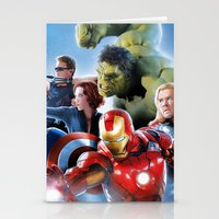 super heroes Stationery Cards featuring Super Heroes by Tom Lee
