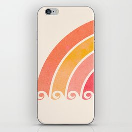 Whimsical Vintage Rainbow Waves iPhone Skin