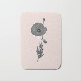 One flower one love in pink Bath Mat