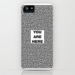 You Are Here Maze iPhone Case