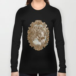 Ornate Horse Portrait Long Sleeve T-shirt