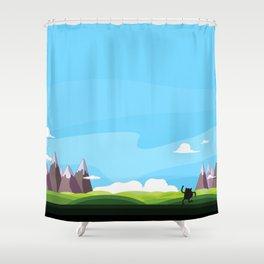 Super Ultimate Hi-Five Go! Shower Curtain