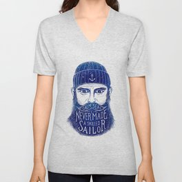 CALM SEAS NEVER MADE A SKILLED (Blue) Unisex V-Neck
