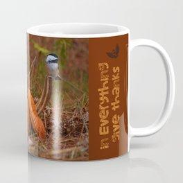 A Chickadee Thanksgiving Coffee Mug