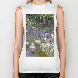"Claude Monet ""Water lilies""(2) Biker Tank"
