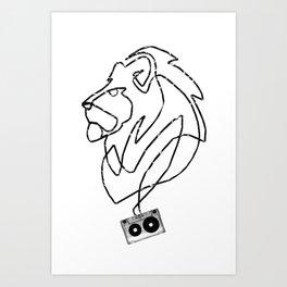 Lion Tape Art Art Print