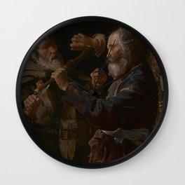 Georges de La Tour - The Musicians' Brawl Wall Clock