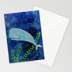 Dreaming whale Stationery Cards