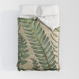 Book Art Page Botanical Leaves Comforters