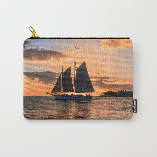 Sunset Sail and Plane Carry-All Pouch