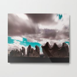Abstract Long Exposure Sky (Color) Metal Print