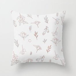 Vintage Simple Leaf Pattern Throw Pillow