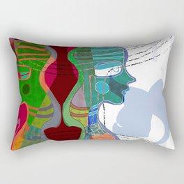 Girl Silhouette With Shapes V Rectangular Pillow