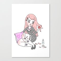 Bedroom Haircut Canvas Print