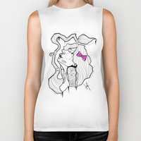 bow Biker Tanks featuring BOW by Chris Kies