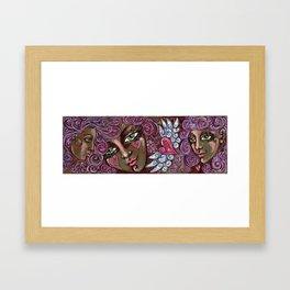 Swirly Girls Framed Art Print