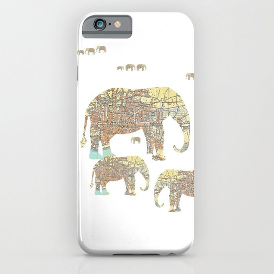 Follow That Elephant iPhone & iPod Case