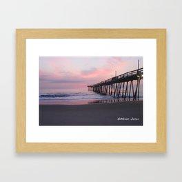 Pastel skies Framed Art Print