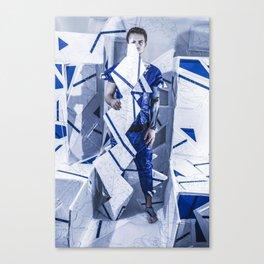 Blue/White Runway Canvas Print