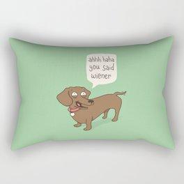 Immature Dachshund Rectangular Pillow