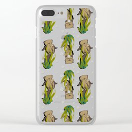 Significant otters teal Clear iPhone Case