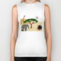 safari Biker Tanks featuring Safari by Design4u Studio