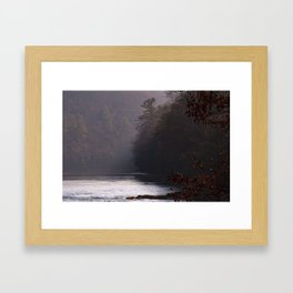 Clarion River Mist Framed Art Print