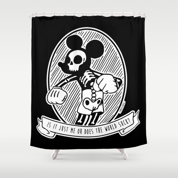Alternative Punk Mickey Mouse Tattoo Art Shower Curtain By Zombiecraig