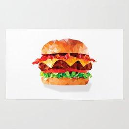 Geometric Bacon Cheeseburger Rug