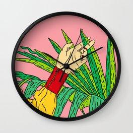 Tropical kiss Wall Clock
