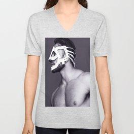 Masked Man Unisex V-Neck