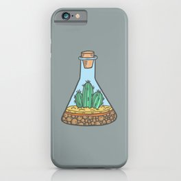 Cactus Terrarium on Cool Grey iPhone Case