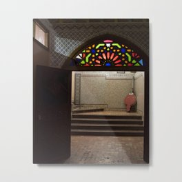 Ray of Light - Moroccan Stained Glass Metal Print
