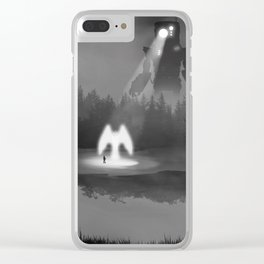 the Unexpected Meeting Clear iPhone Case