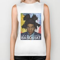 basquiat Biker Tanks featuring Jean Michel Basquiat by guissëpi