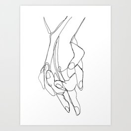 One Line Love Art Print