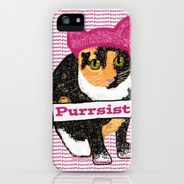Purrsist Kitty iPhone Case