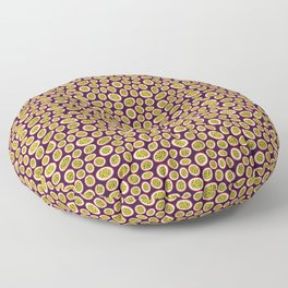 Pattern-Abstract -passion fruit Floor Pillow