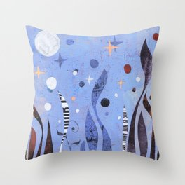 BLUE UNTITLED Throw Pillow